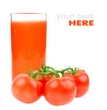Tomato juice and tomatoes Stock Photography