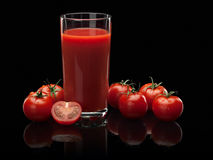 Tomato juice and tomatoes Royalty Free Stock Image