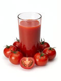 Tomato juice and tomatoes Stock Photos