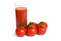 Tomato juice and tomatos Royalty Free Stock Image