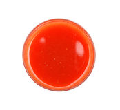 Tomato juice top view Royalty Free Stock Photos