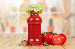 Tomato juice and vegetables Royalty Free Stock Photography