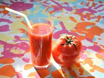 Tomato juice. Vitamin tasty smack Royalty Free Stock Image
