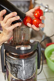 Tomato Juicer Stock Photo