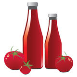Tomato Ketchup. Vector illustration showing a tomato ketchup Vector Illustration