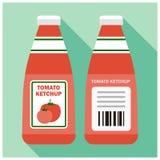 Tomato ketchup bottle Stock Photos