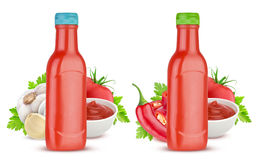 Tomato ketchup bottle isolated on white background Royalty Free Stock Images