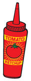 Tomato ketchup bottle Stock Images