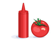 Tomato and ketchup dispenser Stock Photography