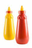 Tomato ketchup and mustard Stock Photography