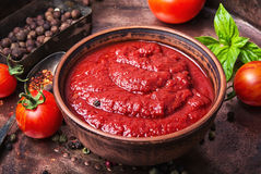 Tomato ketchup sauce Stock Photography