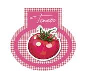 Tomato label.  Retro sticker. Stock Photography