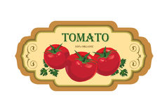 Tomato label. Vector set. Retro stickers. Royalty Free Stock Photography