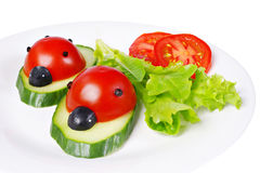 Tomato ladybirds Royalty Free Stock Image