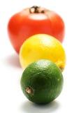 Tomato, lemon, lime Royalty Free Stock Images