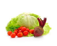 Tomato, lettuce and beetroot Royalty Free Stock Images