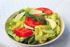 Tomato-lettuce salad Stock Images