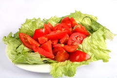 Tomato and lettuce salad Royalty Free Stock Image