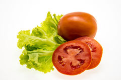 Tomato and lettuce Stock Photo