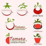 Tomato Logo. For business about agriculture - vector Royalty Free Stock Photos