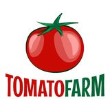 Tomato logo on white background Royalty Free Stock Photos