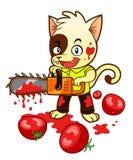 Tomato maniac kitten Stock Photo