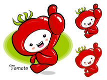 Tomato Mascot the Right hand best gesture. Vegetable Character D Royalty Free Stock Photography