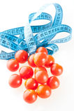 Tomato with measurement Stock Images