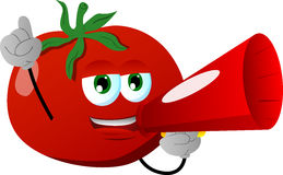 Tomato with megaphone Stock Photography