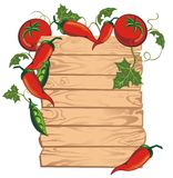 Tomato menu board Royalty Free Stock Image