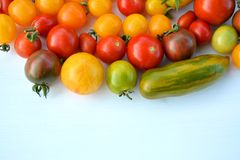 Tomato mix colors Royalty Free Stock Images