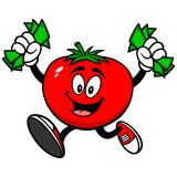 Tomato with Money Stock Photography