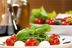 Tomato Mozarella Rocket Salad With Olive Oil Stock Photos