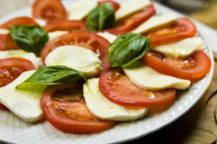 Tomato and mozarella salad Royalty Free Stock Photos