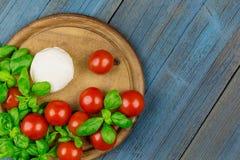 Tomato mozz basil Royalty Free Stock Photos