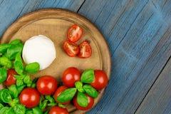 Tomato mozza basil Royalty Free Stock Image