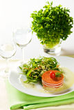 Tomato and mozzarella. Salad with rukkola Stock Image