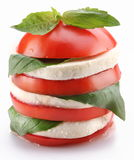 Tomato and mozzarella Royalty Free Stock Photos