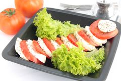 Tomato and mozzarella appetizer Royalty Free Stock Photos