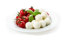 Tomato Mozzarella Basil Stock Photos