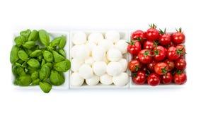 Tomato Mozzarella Basil Stock Photography