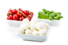 Tomato Mozzarella Basil Stock Photo