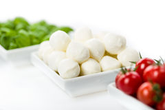 Tomato Mozzarella Basil Stock Photography
