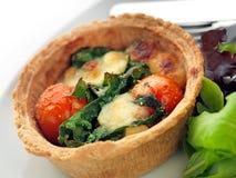 Tomato, Mozzarella and Basil Tart stock image