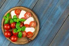 Tomato mozzarella basil Royalty Free Stock Images