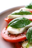 Tomato Mozzarella Caprese Stock Photo