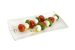 Tomato and mozzarella cheese sticks Royalty Free Stock Image