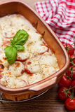 Tomato and mozzarella gratin Royalty Free Stock Image