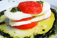 Tomato and mozzarella salad Stock Photo