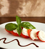 Tomato Mozzarella Salad - Caprese Stock Photo